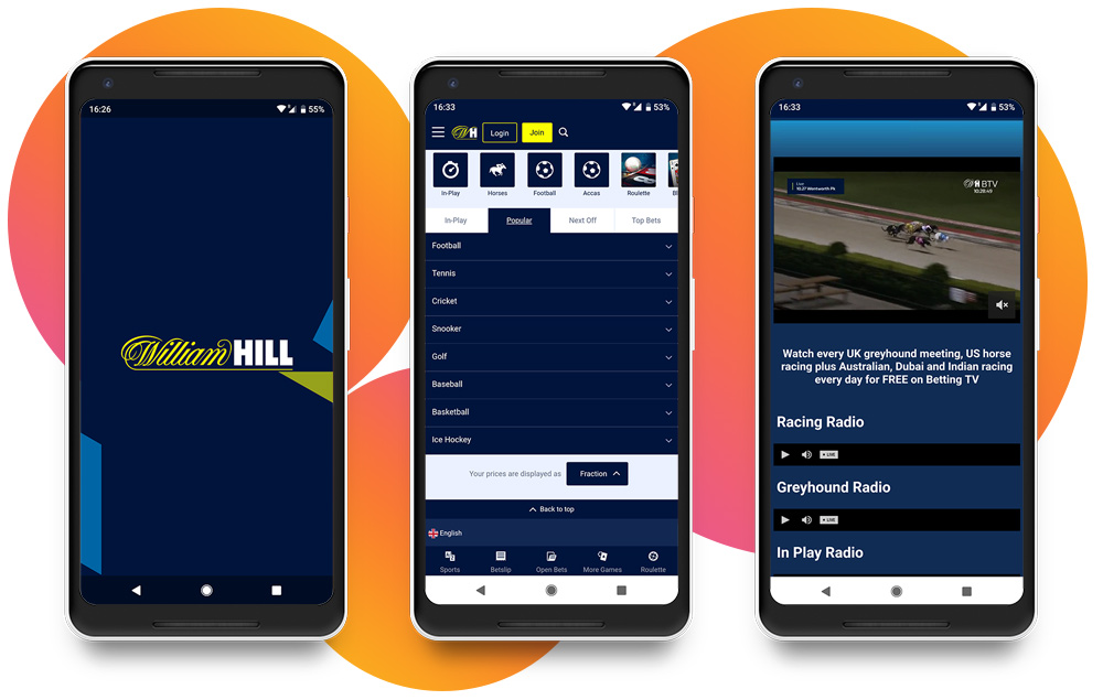 William Hill  apk para Android OS