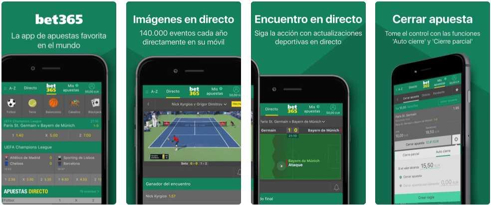 Bet365 versión mobile