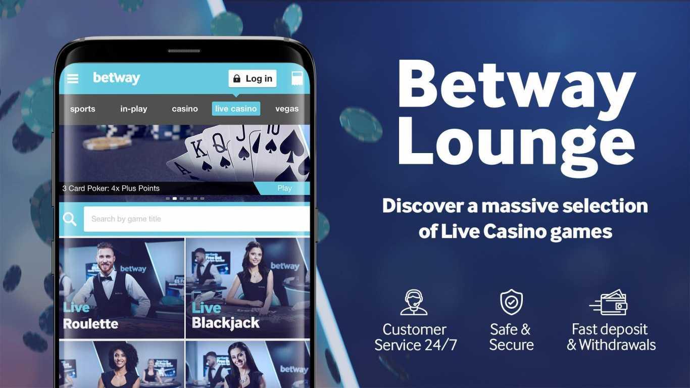 Betway live en casino movil app